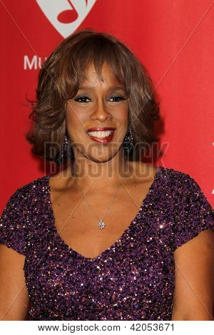 LOS ANGELES - FEB 8:  Gayle King arrives at the 2013 MusiCares Person Of The Year Gala Honoring Bruce Springsteen  at the Los Angeles Convention Center on February 8, 2013 in Los Angeles, CA