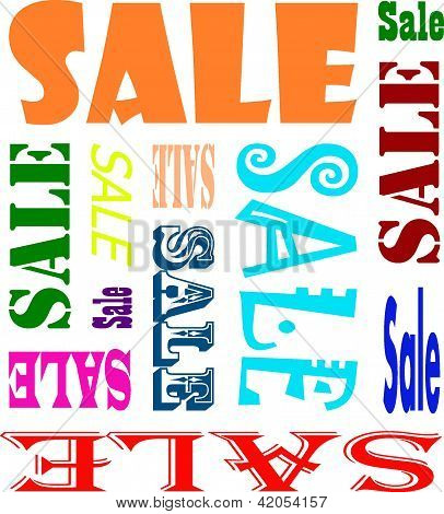Illustration of the word sales