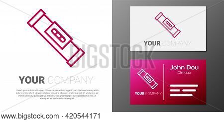 Logotype Line Construction Bubble Level Icon Isolated On White Background. Waterpas, Measuring Instr