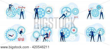 Business Mechanism. Collaborative Work Environment, Successful Team Organization. Growth Strategy, P