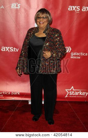 LOS ANGELES - FEB 8:  Mavis Staples arrives at the 2013 MusiCares Person Of The Year Gala Honoring Bruce Springsteen  at the Los Angeles Convention Center on February 8, 2013 in Los Angeles, CA
