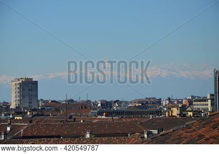 View From The Panoramic Tower Of Palazzo Madama, Turin