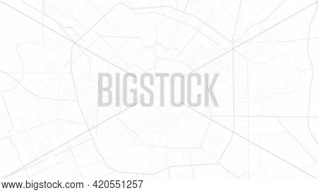 White And Light Grey Milan City Area Vector Background Map, Streets And Water Cartography Illustrati