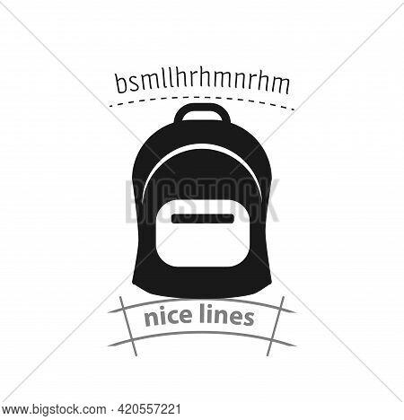 Rucksack. Knapsack. Schoolbag. Sack Simple Vector Icon. Bag Icon
