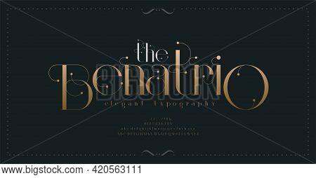 Luxury Vintage Alphabet Letters Font And Number. Typography Elegant Classic Lettering Serif Fonts De