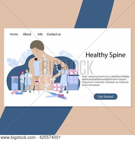 Healthy Spine Clinic, Back Therapy Intervertebral Hernia. Diagnosis And Manual Osteopathy, Chiroprac