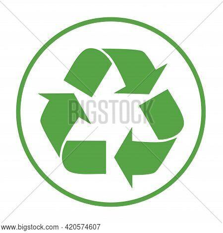 Recycle Icon Vector. Arrows Recycle Eco Symbol Vector Illustration.  Cycle Recycled Icon. Recycled M