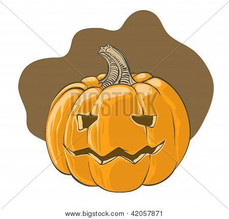 Halloween pumpkin - vector illustration