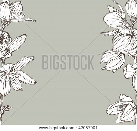 frame with hand drawn flowers