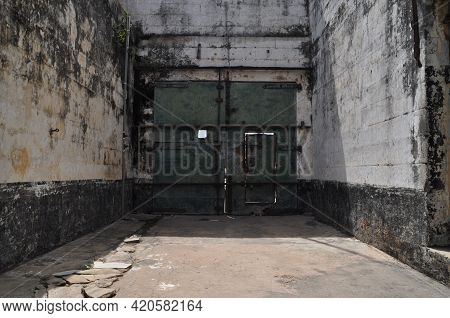 Gate Of An Abandoned Prison In The Former Ussher Fort In Accra, Ghana.