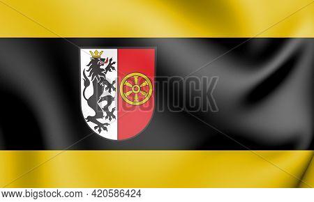 3d Flag Of Rheda-wiedenbrueck (north Rhine-westphalia), Germany. 3d Illustration.