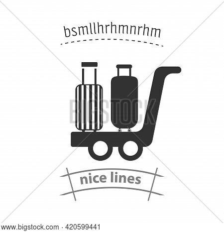 Luggage At The Airport Simple Vector Icon. Luggage Isolated Icon