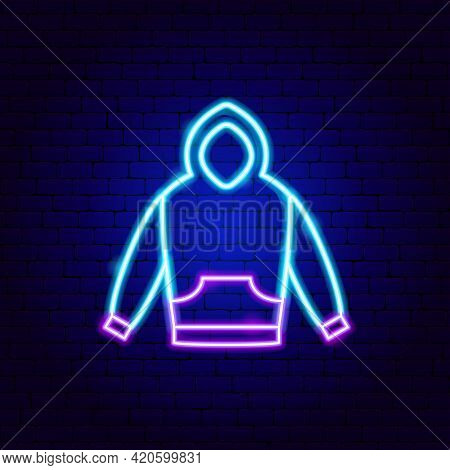 Pullover Neon Sign. Vector Illustration Of Clothes Promotion.