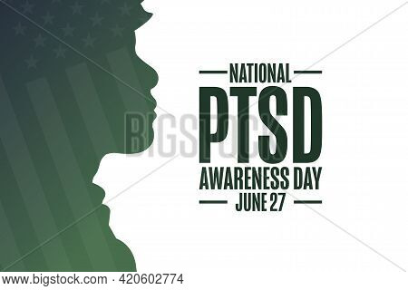 National Ptsd Awareness Day. June 27. Holiday Concept. Template For Background, Banner, Card, Poster