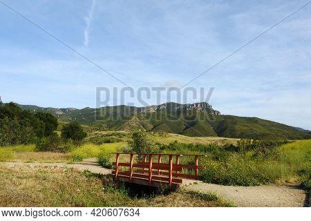 Scenic Boney Mountain Wilderness In The Santa Monica Mountains, Ventura County, California.