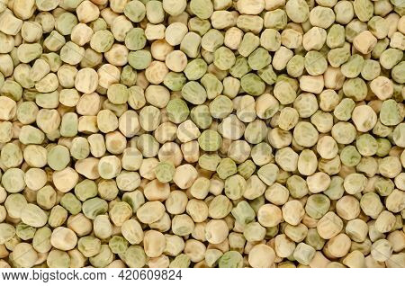 Snow Pea Seeds, Background, From Above. Also Chinese Pea Or Pois Mangetout, An Edible-pod Pea With F