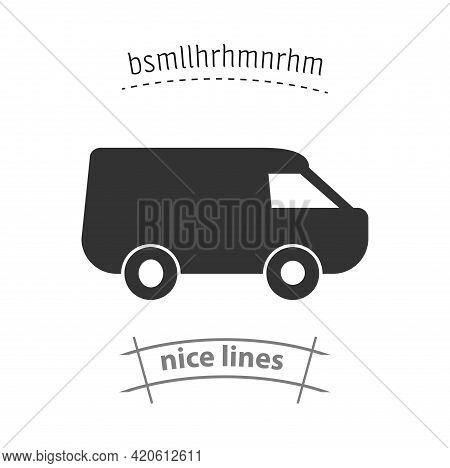 Mini Van Simple Vector Icon. Van Isolated Icon