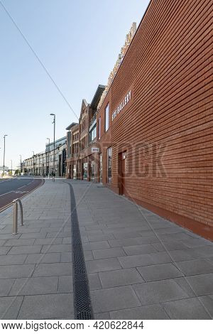 Sheffield, South Yorkshire, England - April 19 2021: The Site Art Gallery On Brown Street In Sheffie