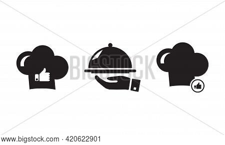 Icon With Chef Hat. Professional Chef's Hat. Logo For Signage In Bakery, Culinary, Restaurant And Di