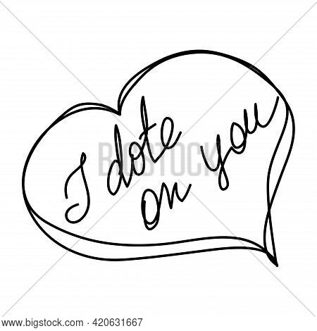 Valentine's Day. Set Of Valentine's Calligraphic Headlines With Hearts.