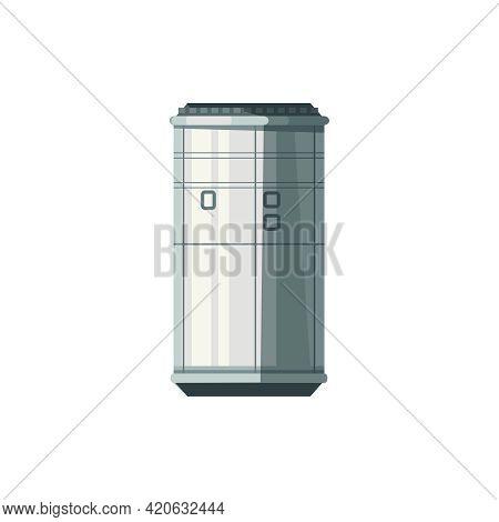 Accomodation Module Of International Space Station Cartoon Vector Illustration