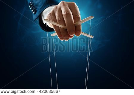 The Puppeteer's Hand Is Large. The Concept Of World Conspiracy, World Government, Manipulation, Worl