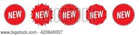 New Condition Note Tag Mark, Merchandise Sticker Label Set. Store Product Arrival And Sale Promotion