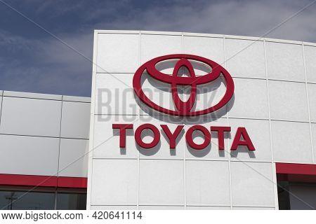 Kokomo - Circa May 2021: Toyota Car And Suv Logo. Toyota Is A Popular Brand Among Auto Buyers Becaus