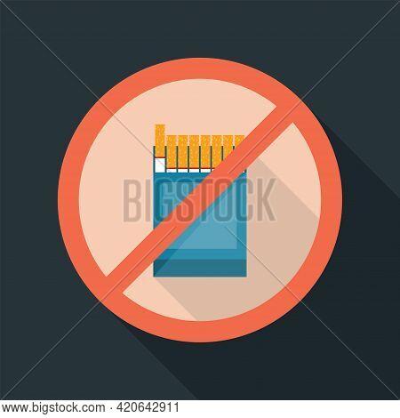 No Smoking. Flat Icon. May 31st World No Tobacco Day. No Smoking Day Awareness.