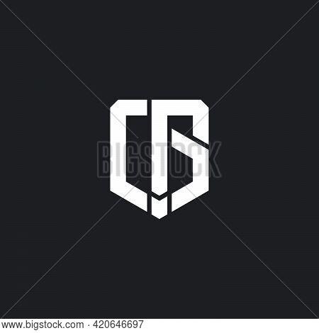 Cg Simple Shield Emblem Geometric Line Logo Vector