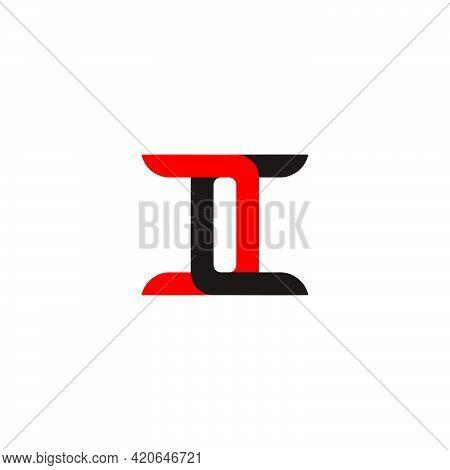 Letter Cc Linked Colorful Design Logo Vector