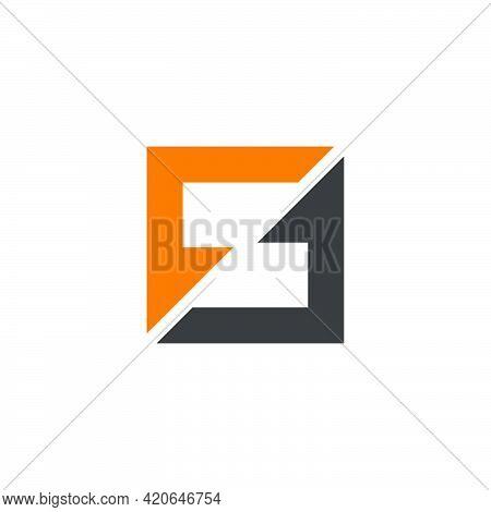 Letter Ft Square Arrows Motion Logo Vector