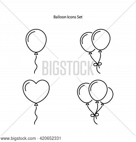 Balloon Icons Set Isolated On White Background. Balloons Icon Trendy And Modern Balloons Symbol For