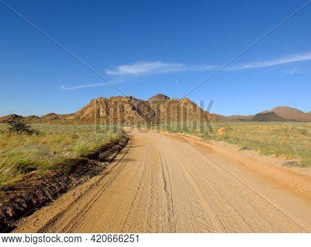 Big Rocks In Namib Desert, Sossusvlei, Namibia