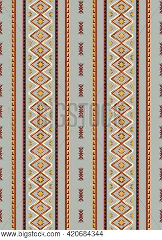 Mexican Pattern Background. Navajo Tribal Vector Seamless Pattern. Ethnic Aztec, South West Design.