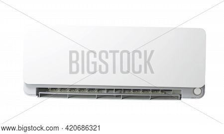 Modern Air Condition Isolated In White Background. Air Conditioning.