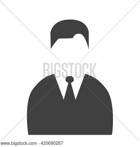 Man Head Icon Silhouette. Male And Female Avatar Profile Sign, Face Silhouette Stock Vector