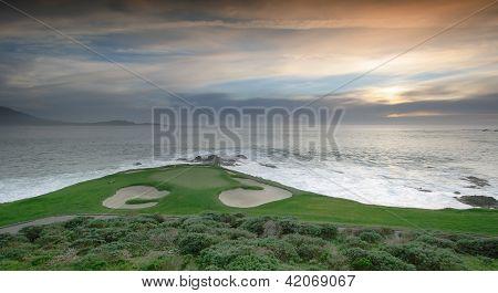 Hole 7 Pebble Beach golf, National pro-am  2013