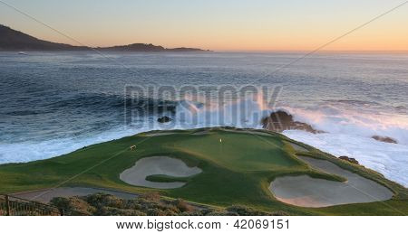 Hole 7 Pebble Beach golf, National pro-am  2013