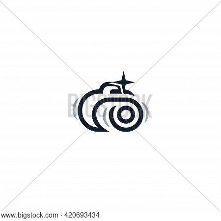 Camera Vector Icon Lineart Style For Photo Art Studio Or Photographer Logo Concept. Photo Camera Iso