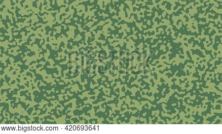 Green Camouflage Background. Abstract Vector Backdrop Illustration.
