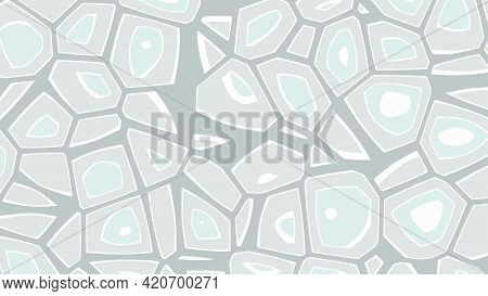 Cellular Abstract Background. Grey Cells. Vector Illustration.
