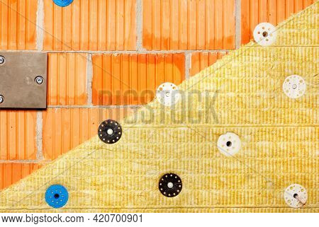 The Concept Of Reducing Heat Loss In Modern Buildings, Insulation Of A Brick Wall Of A Building With