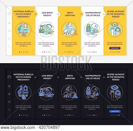 Inborn Hypoacusis Onboarding Vector Template. Responsive Mobile Website With Icons. Web Page Walkthr