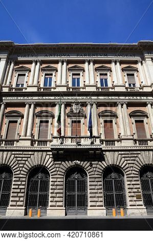 Rome, Italy - April 9, 2012: Ministry Of Agricultural, Food And Forestry Policies Of Italian Governm