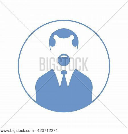 Man Head Icon Silhouette. Male And Female Avatar Profile Sign, Face Silhouette Vector