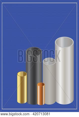 Template Steel Copper And Brass Pipes Cover For Business Industry Brochure Design