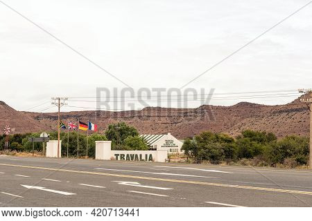 Three Sisters, South Africa - April 2, 2021: The Travalia Road Stall Near Three Sisters In The North