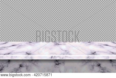 Pink Marble Table Mockup Top, For Display Or Montage Your Products.