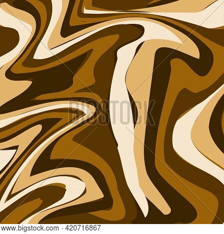 Fluid Art Texture. Background With Abstract Mixing Paint Effect. Liquid Acrylic Picture That Flows A